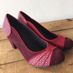 df426db8b9dd UK SIZE 3 WOMENS RUBY SHOO RED VINTAGE LOOK HEELS  RubyShoo  CourtShoes   Vintageevent