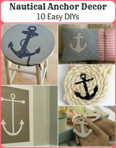 Nautical Anchor Decor - 10 Easy DIYs, I Love anchors almost as much as infinity symbols!