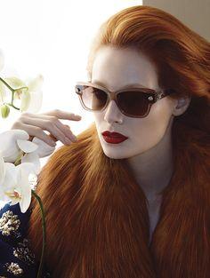 Capelli rossi primavera estate 2015: sfumature e tendenze Thairine Garcia per Blumarine