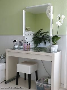 If Chris doesn't remodel/enlarge our shower, I want a vanity.