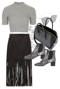 """""""Untitled #10840"""" by theleatherlook ❤ liked on Polyvore featuring moda, Topshop, Zara, GANT, Givenchy e Isabel Marant"""
