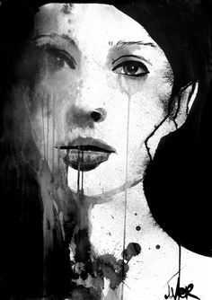 "Saatchi Online Artist: Loui Jover; Pen and Ink, Drawing ""longing"""