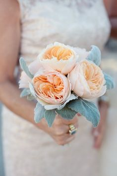 garden rose bouquetpeach