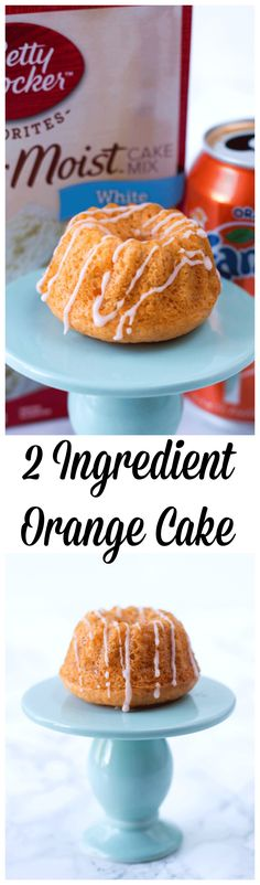 This 2 Ingredient Orange Cream Cake is awesome! No eggs, No Oil just a secret ingredient that makes this cake moist and delicious!