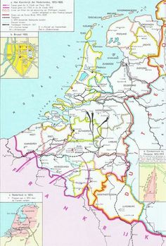 Geschiedenis van Nederland European Map, European History, Holland Map, Royal Family Trees, Old Maps, Historical Maps, Ancestry, Science Nature, Genealogy
