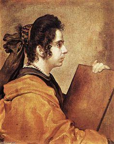 'Sibyl', öl auf leinwand von Diego Velazquez (1599-1660, Spain)