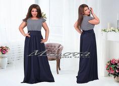 Платье №821-тем.синий+белый - Платья-Батал - Minova интернет-магазин