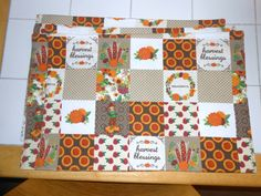 Thanksgiving Placemat Set Set of 4 Reversible by ColdStreamCrafts