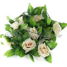 For the arch 2.5m £3.99  http://www.ebay.co.uk/itm/2-5M-Artificial-Silk-ROSE-Fake-FLOWER-Ivy-Leaf-Garland-Plants-Home-Wedding-Decor-/221299978745?pt=UK_Home_HomeDecor_Miscellaneous&var=&hash=item338681b1f9