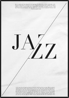 Modern jazz music poster. by Praew Kc, via Behance