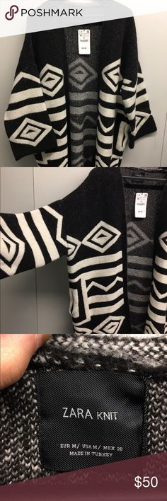 NWT Zara knit sweater! Gorgeous thick Zara NWT knit sweater! Aztec print. Size Medium please message with any questions :) Zara Sweaters Cardigans
