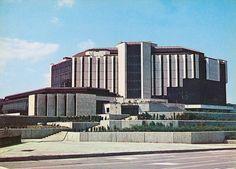 europavintage:  Народен дворец на културата София 1982 г. People's palace of culture Sofia Bulgaria by Balkanton on Flickr.