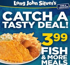 ONLY $3.99 Fish & More Meal Printable Coupon (2 fish, 2 sides, 2 hushpuppies) http://ljspromotions.com/FishNMoreMeal.html
