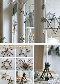 Diy Twig Christmas Decorations