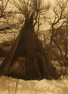 tipi (teepee or tepee) photograph : In the Mountains.