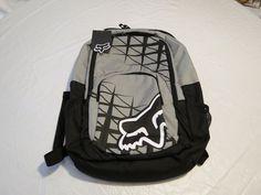 Fox Racing Given lets ride backpack bookbag black laptop back pack book bag NEW #FoxRacing #Bookbag
