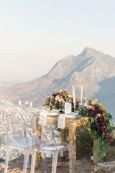 Cape Town Inspired Mountaintop Wedding Ideas - photo by Dehan Engelbrecht http://ruffledblog.com/cape-town-inspired-mountaintop-wedding-ideas