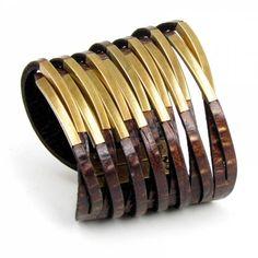 Bracelete Camaleoa | Twisted na Camaleoa | Pulseiras e Braceletes de Couro | Acessórios em Couro com Design Exclusivo e Original | B