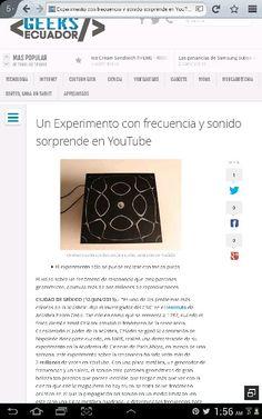 #youtube Un Experimento con frecuencia y sonido sorprende en YouTube http://www.geeksecuador.com/un-experimento-con-frecuencia-y-sonido-sorprende-en-youtube/