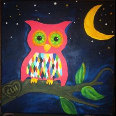 Children's Owl Painting