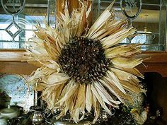 Corn husk wreath with PINE CONES attached to the inner circle. Description from pinterest.com. I searched for this on bing.com/images