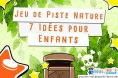 7 Jeux de piste à faire dans la nature avec des enfants. Voici 7 idées pour faire un jeu de piste nature avec des enfants à partir de 5 ans.