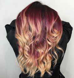merlot melt balayage hair color