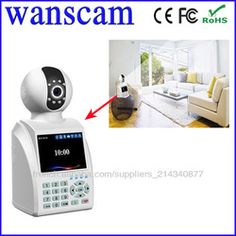 Wanscam(HW0029)-H.264 3C card Network Indoor Phone Call Mini WIFI IP USB Micro Camera