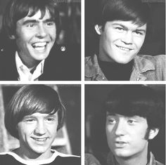 Love these Beautiful Boys. <3 Mike Nesmith, Micky Dolenz, Davy Jones, Peter Tork. (The Monkees)