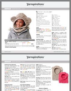 Bear hat Crochet Teddy, Crochet Bear, Crochet For Kids, Dc2tog Crochet, Double Crochet, Single Crochet, Crochet Hooded Cowl, Bernat Softee Chunky, Knitting Patterns