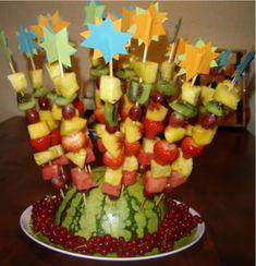 voor zomerkindjes: een fruitsaté