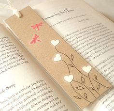 Handmade Illustrated Bookmark by creativesque on Etsy, £3.50 © Stacey-Ann Cole 2012