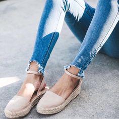Vici Brand New Fiesta Espadrille Sandal Women's Shoes, Suede Shoes, Me Too Shoes, Cute Shoes Flats, Cute Sandals, Tan Wedge Sandals, Espadrille Sandals, Sandals Platform, Trendy Sandals