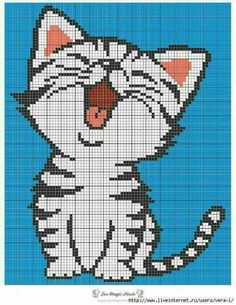 This Pin was discovered by Mfi Cross Stitching, Cross Stitch Embroidery, Embroidery Patterns, Hand Embroidery, Knitting Patterns, Cross Stitch Baby, Cross Stitch Animals, Cross Stitch Charts, Pixel Pattern
