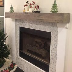 If you are looking to give your room a focal point or something to highlight it, look no further than the fireplace mantel that's already there. Many tend to leave their fireplace mantels bar… Farmhouse Fireplace, Home Fireplace, Fireplace Design, Fireplace Mantels, Fireplaces, Fireplace Ideas, Fireplace Remodel, Mantles, Brick Fireplace