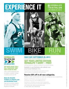LA TRIATHLON! Wanna be there? Get in touch with me NOW! SABRINA INDEPENDENT HERBALIFE DISTRIBUTOR SINCE 1994 https://www.goherbalife.com/goherb/ Call USA: +1 214 329 0702 Italia: +39- 346 24 52 282 Deutschland: +49- 5233 70 93 696