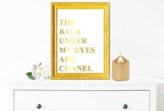 Gold Foil Digital Print, Instant Download, Digital Download, Downloadable Art, Typography Poster, Teen Gift Ideas, Shabby Chic, Home Art by ShabbyShackStudio on Etsy