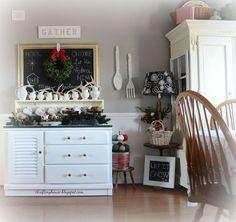 christmas buffet decorations, christmas decorations, repurposing upcycling, seasonal holiday decor