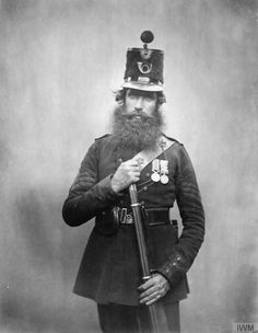 Have one to sell? Sell it yourself Sergeant Carroll Rifle Brigade Crimean War Photograph British Armed Forces, British Soldier, British Army, Military Art, Military History, Military Uniforms, Irish Images, Victorian Photography, Crimean War