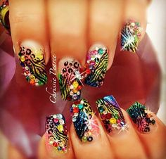 Genuine Swarovski Crystals for Nail Art Rhinestones Bling Bling Acrylic Nails, Nail Art Rhinestones, Best Acrylic Nails, Rhinestone Nails, Bling Nails, Acrylic Nail Designs, Swag Nails, Nail Art Designs, Nails Design
