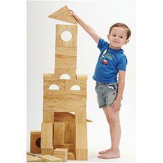 Eduplay, Soft Wood Bausteine 56-tlg. Sieht aus wie Holz, tut aber nicht weh, ab 2 Jahren | KC2101 / EAN:4260081545586