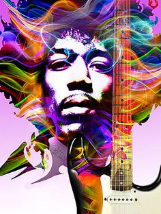 Pop Art, Music Artwork, Music Painting, Jimi Hendrix Experience, Psychedelic Music, Guys And Dolls, Hyperrealism, Photoshop Effects, Diamond Art