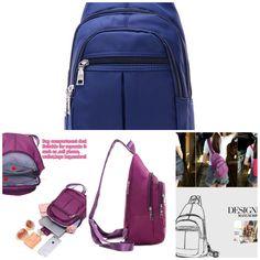 Fashion Waterproof Women Backpack Nylon Crossbody Bag Messenger Shoulder Bag outdoor backpack Chest Bag Outdoor Backpacks, Crossbody Bag, Shoulder Bag, Places, Bags, Women, Fashion, Handbags, Moda