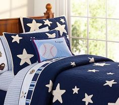 Pottery Barn navy blue star quilt - the original inspiration for this project but I wanted something MORE for my boy