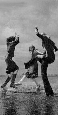 Dancing in the rain with your best friends...priceless $$$$$$$
