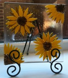 Sunflowers Fused Glass Bowl. £35.00, via Etsy.