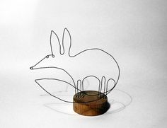 wire fox sculpture