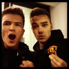 Josh and Liam at the Man United game yesterday