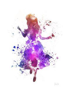 "ART PRINT of Alice in Wonderland illustration 10 x 8"" Home Decor, Fantasy"