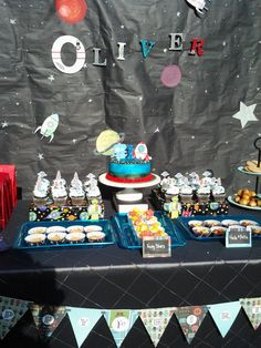 Rocketship and Robot 1st Birthday Party